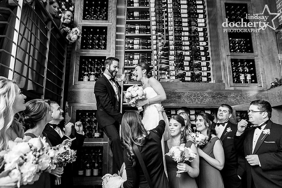 bride-and-groom-in-wine-cellar-at-Union-League-wedding-in-Philadelphia