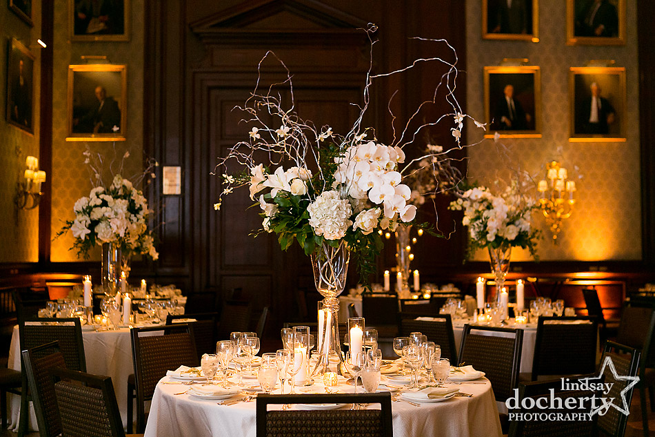 white-centerpieces-at-winter-wedding-at-Union-League