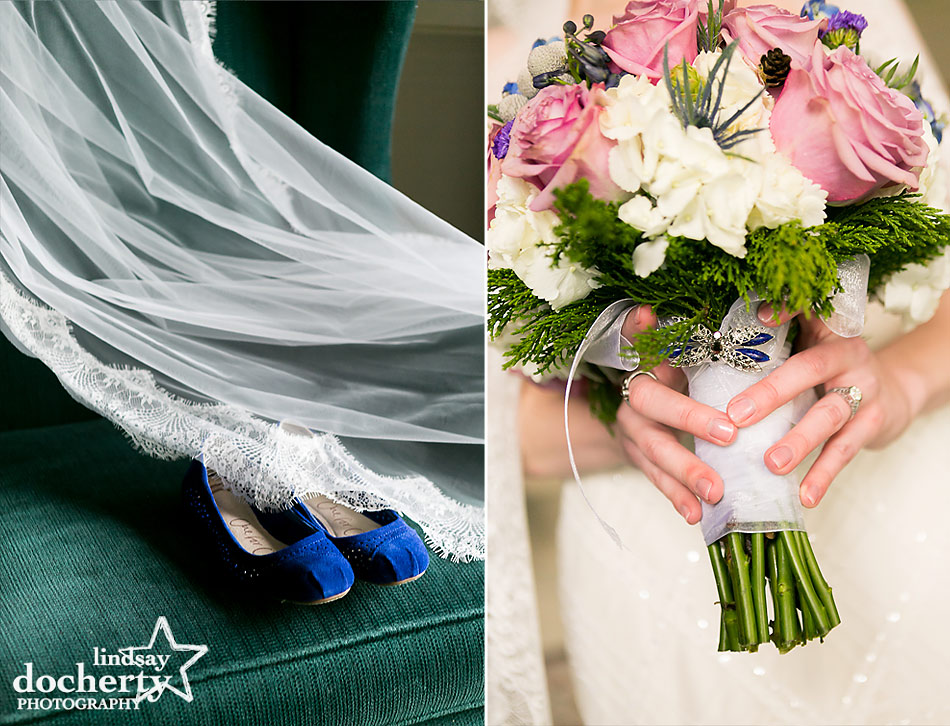 bride-details-for-wedding-day-blue-shoes-veil-bouquet
