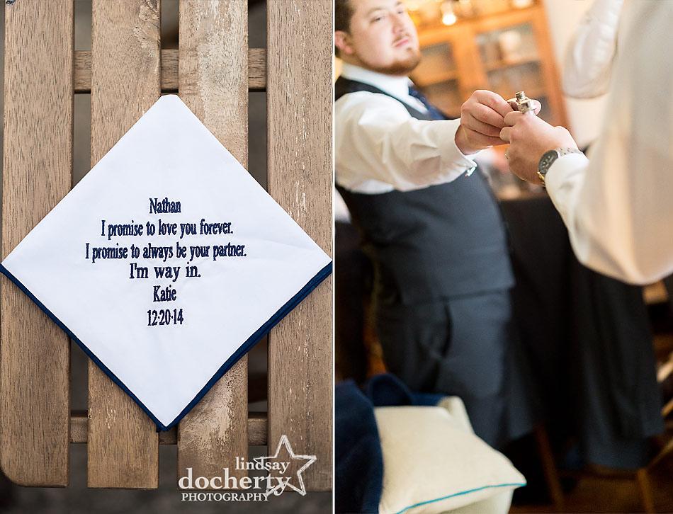 groom-before-wedding-flask-and-handkerchief