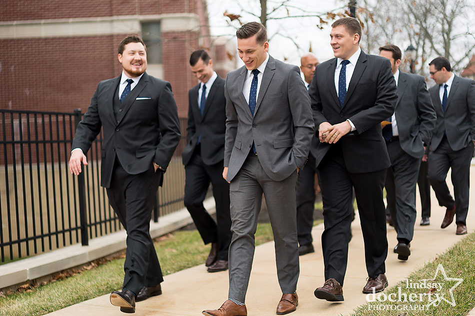 groom-walking-with-gromsmen-before-Main-Line-wedding-ceremony-in-Wayne
