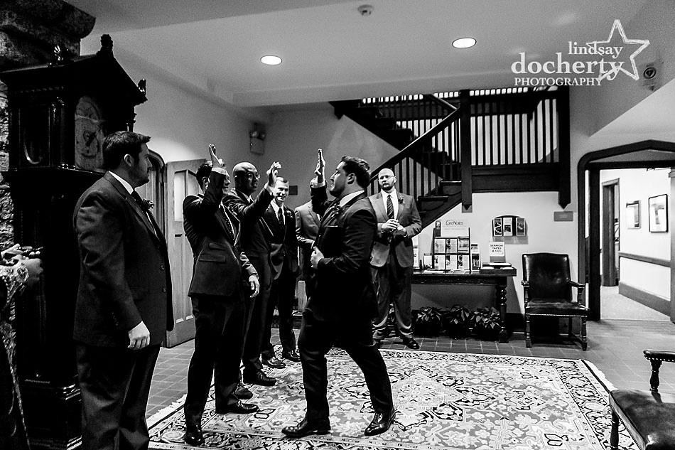 groomsmen-before-wedding-ceremony-at-Wayne-Presbyterian-Church