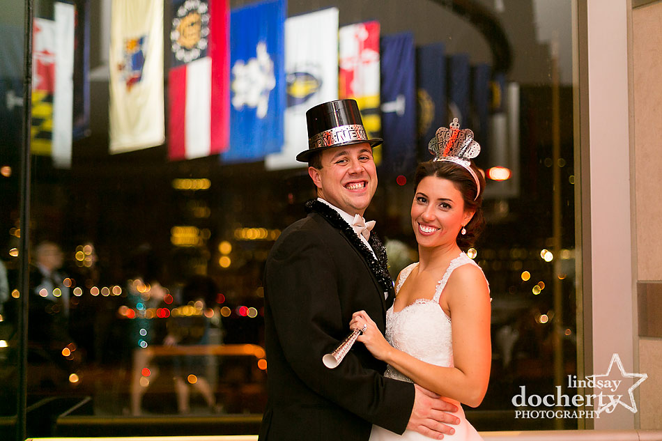 bride-and-groom-at-NYE-wedding-at-National-Constitution-Center-wedding-in-Philadelphia