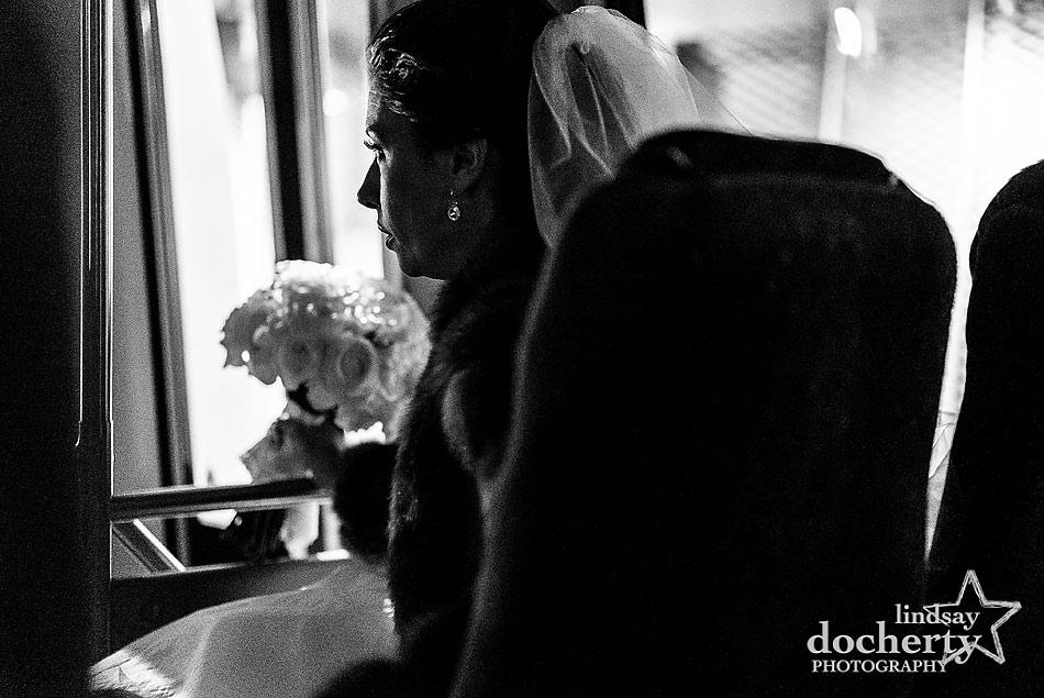 bride-in-trolley-for-winter-wedding