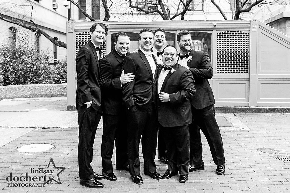 groom-with-groomsmen-at-Dilworth-Plaza