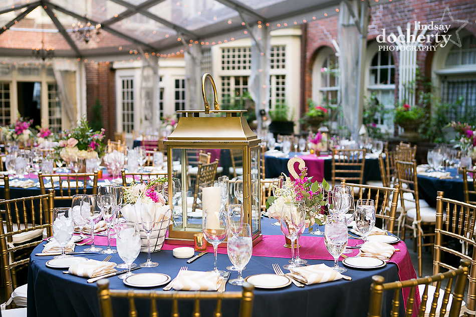 Philadelphia Wedding Photographer At Morris House Hotel Pink Navy And Gold Outdoor Reception Under Clear