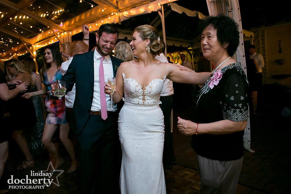 Asian woman wedding crasher Philadelphia wedding photographer at Morris House Hotel