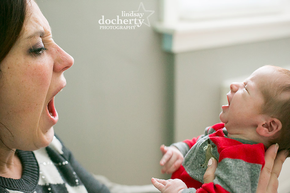 crying baby with mom funny picture