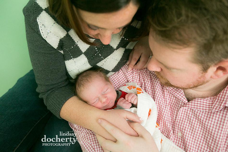 newborn photo session in Philadelphia with parents