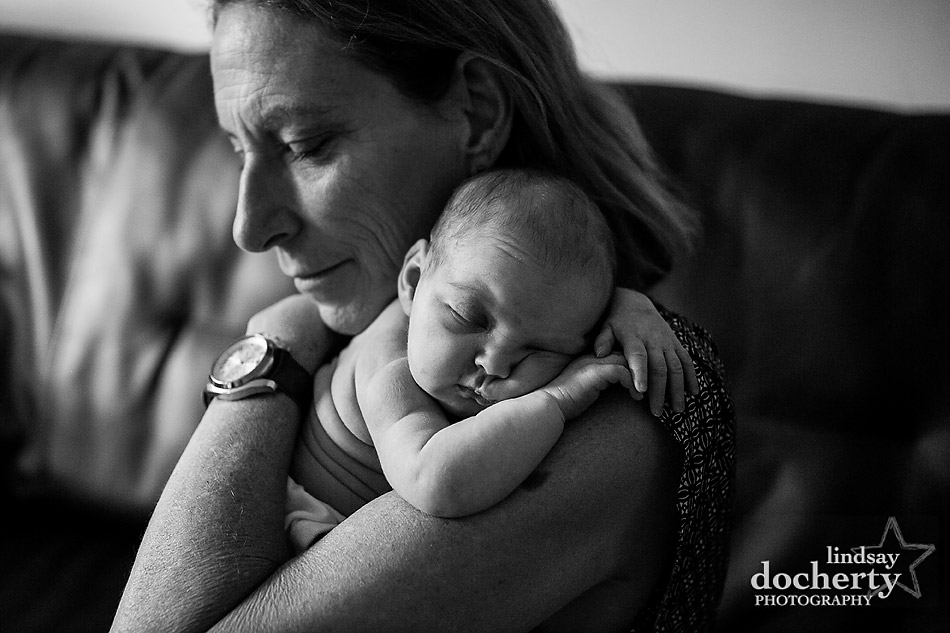 grandmother and granddaughter newborn photography session in Philadelphia