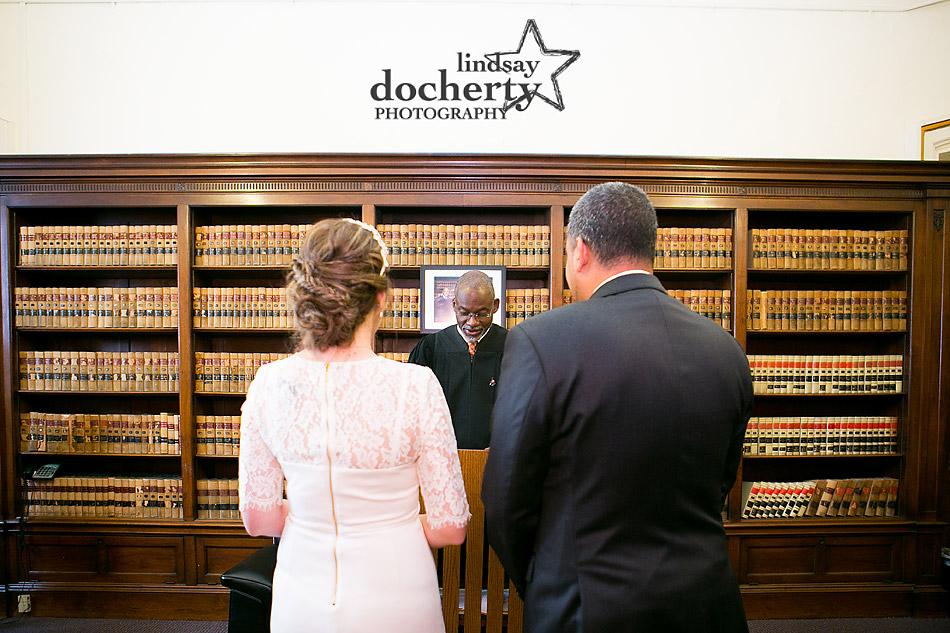 Philadelphia City Hall wedding elopement ceremony