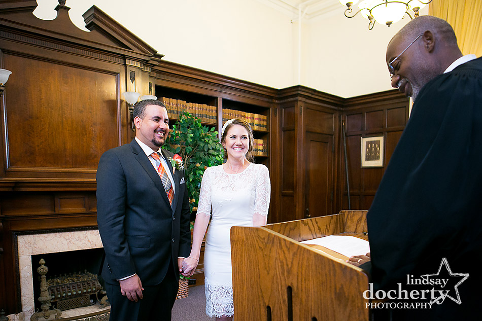 Elopement at Philadelphia City Hall for bride and groom