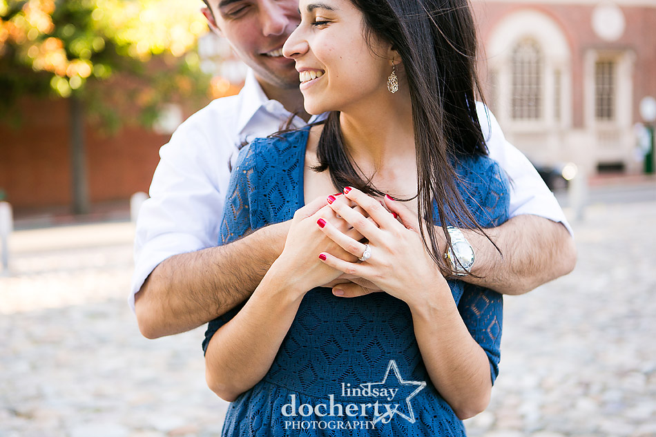 couple-hugging-for-engagement-session-in-philadelphia