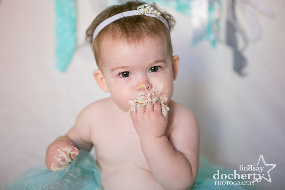 one year old eating birthday cake pictures