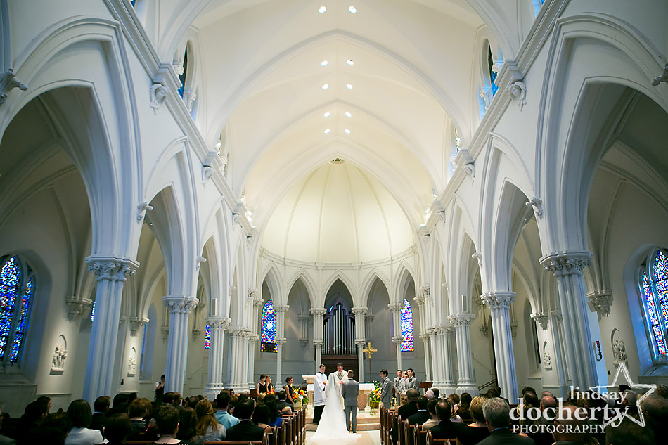 Catholic wedding ceremony at St Thomas of Villanova Church
