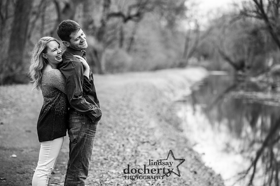 New Hope engagement session along tow path