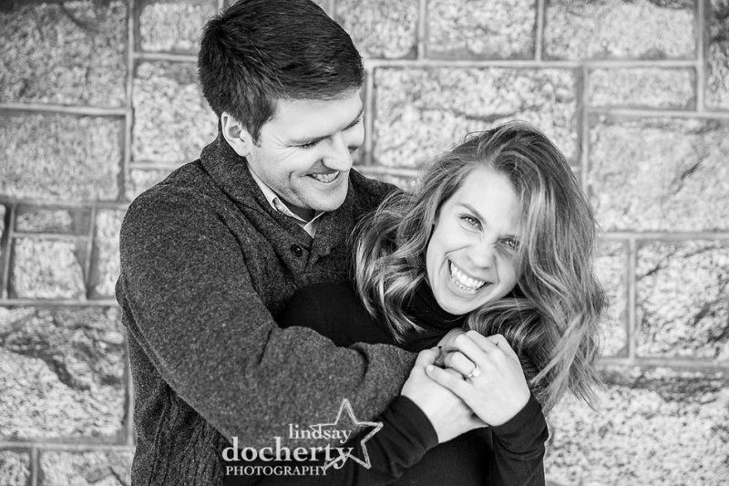 engagement session picture at Baldwin School on the Main Line