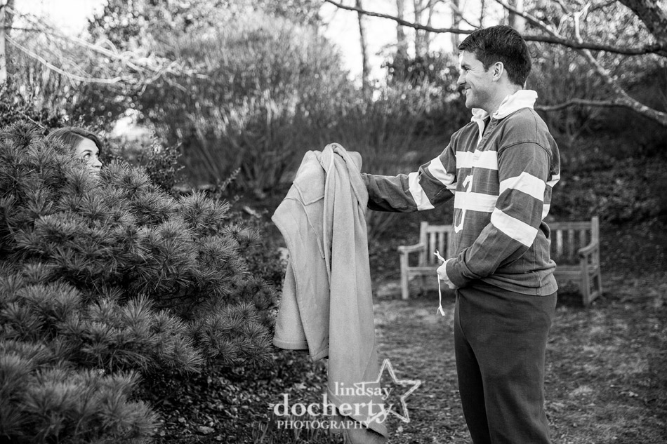 Its a Wonderful Life inspired engagement session stealing robe