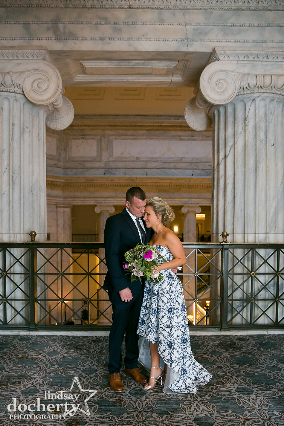 bride and groom after ceremony at Ritz Carlton Philadelphia