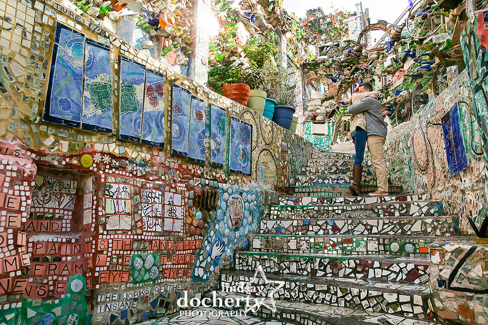 proposal pictures at Philadelphia Magic Gardens