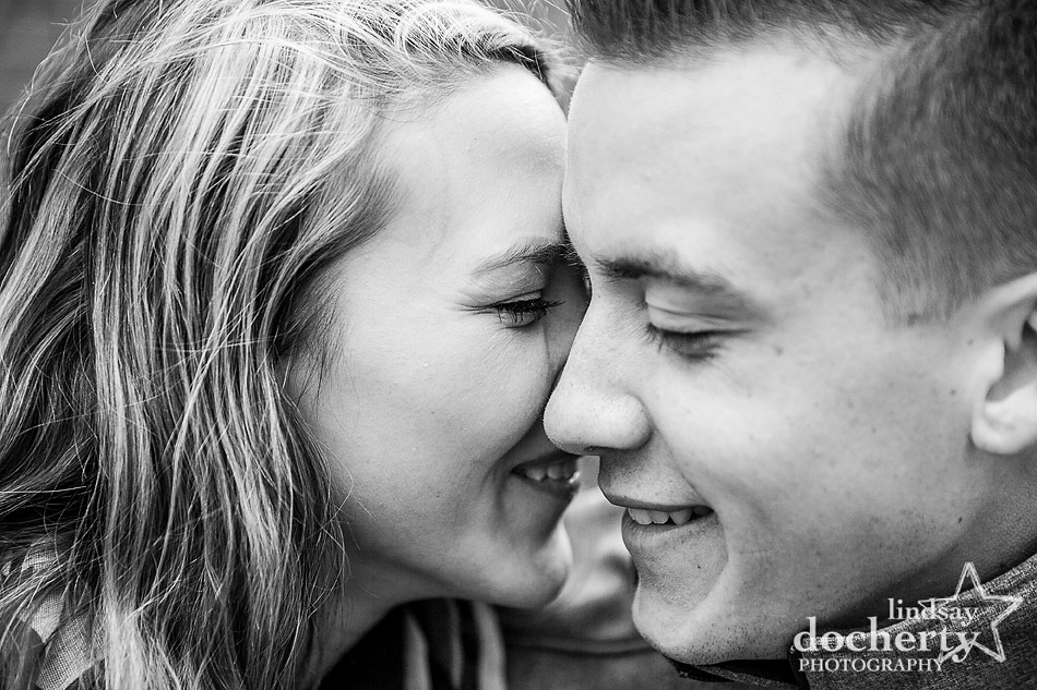sweet closeup at engagement session around Philadelphia South Street