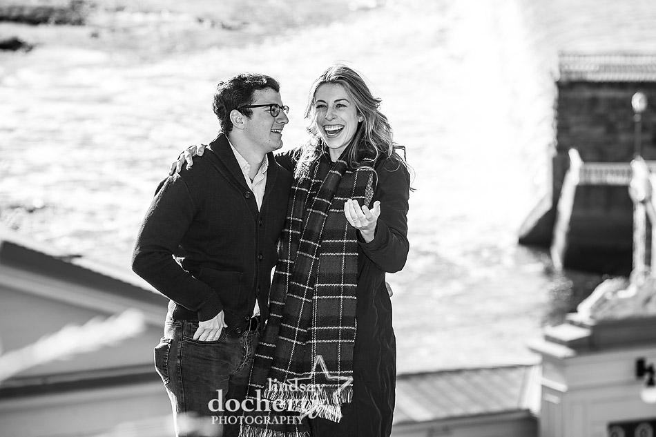 surprise wedding proposal overlooking Boathouse Row