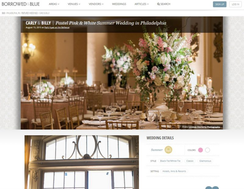 Borrowed & Blue blog publishes Bellevue Wedding