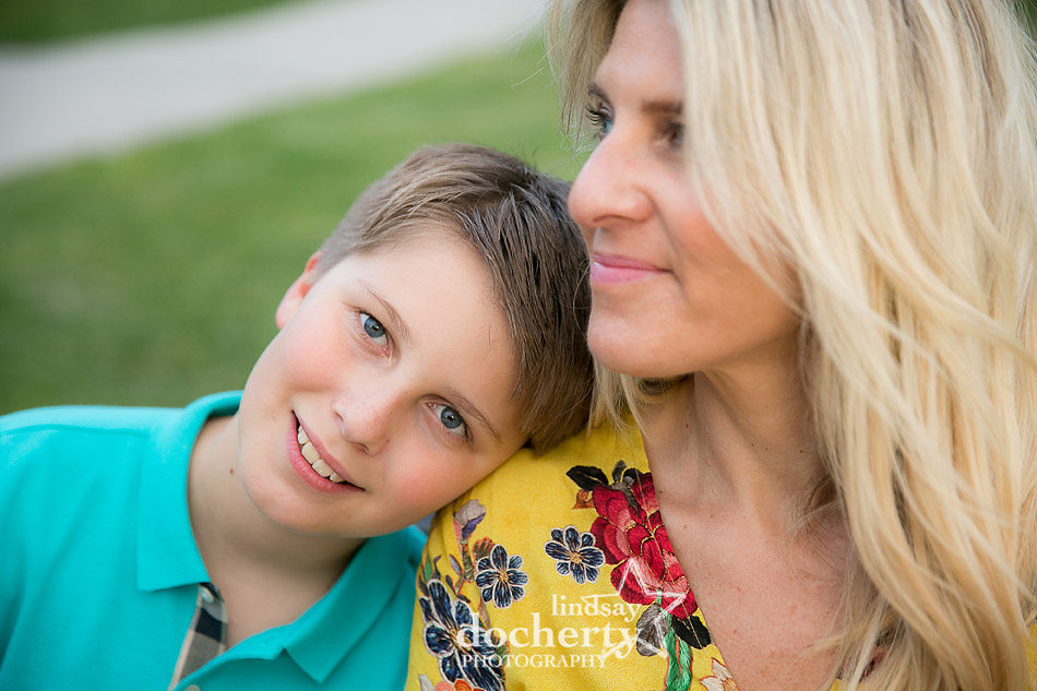 Mom and tween son session in Fairmount