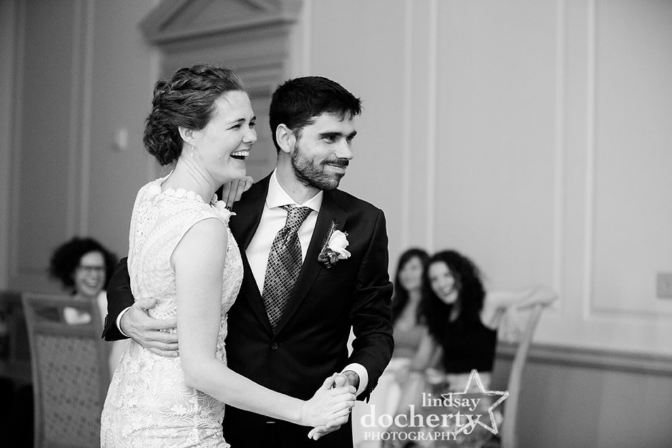 first dance at philadelphia wedding at Davios
