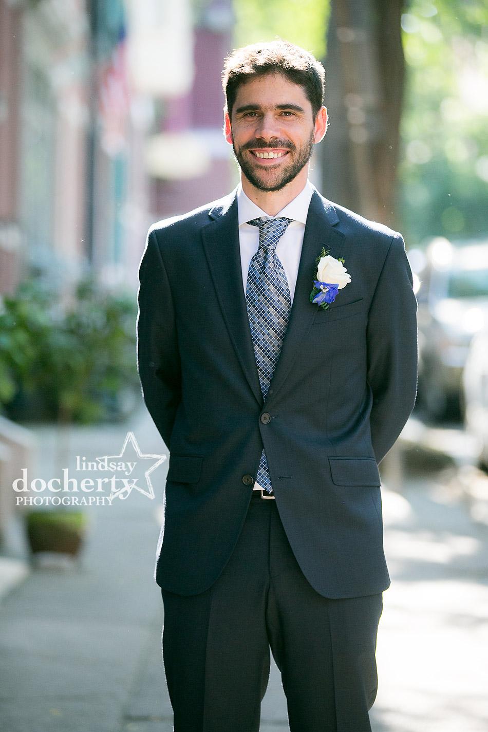 handsome Argentinean groom on wedding day