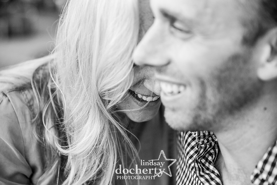 beautiful blonde hair engagement session picture