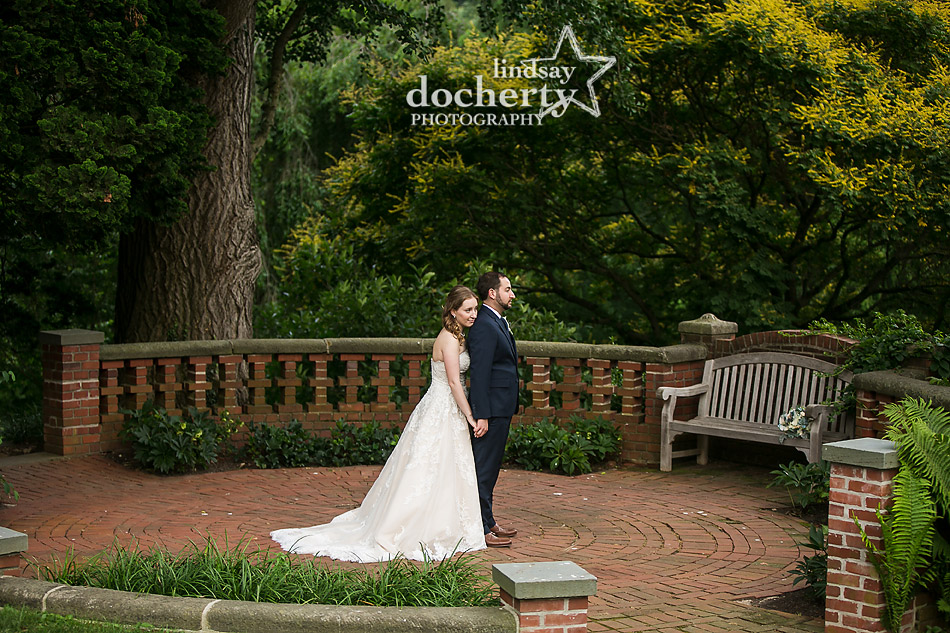 Baxter Memorial wedding couple at Morris Arboretum