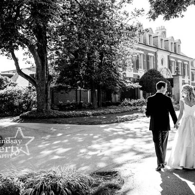 beautiful perfect wedding picture of bride and groom at Overbrook Golf Club