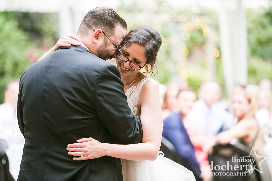 bride and groom during first dance at Morris House Hotel in Philadelphia