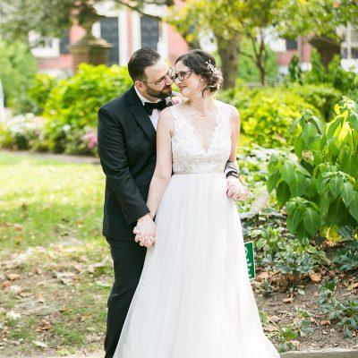 gorgeous fall wedding portrait in Philadelphia's Washington Square
