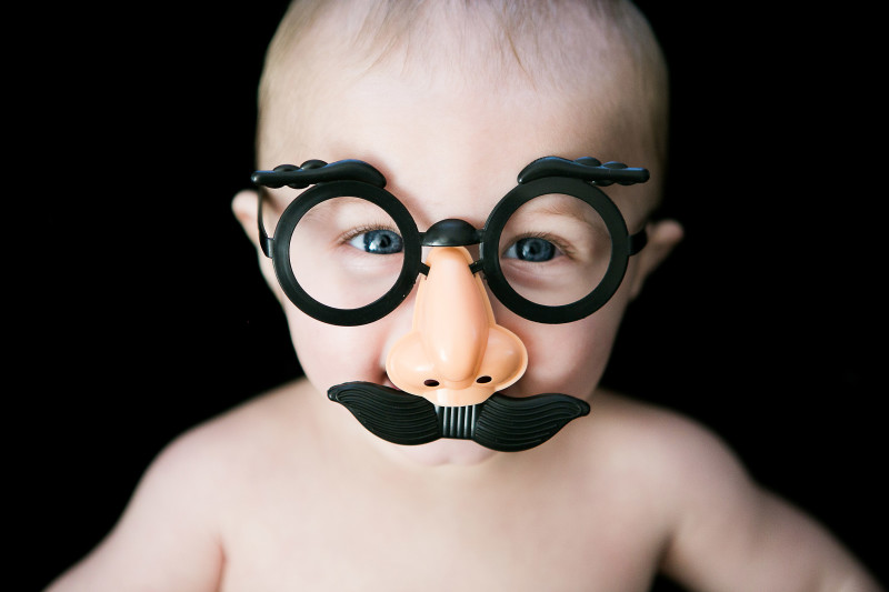 funny baby picture in disguise