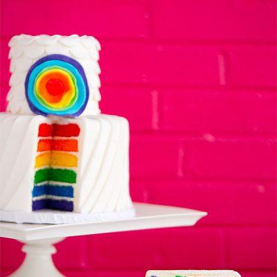 LGBTQ rainbow wedding cake