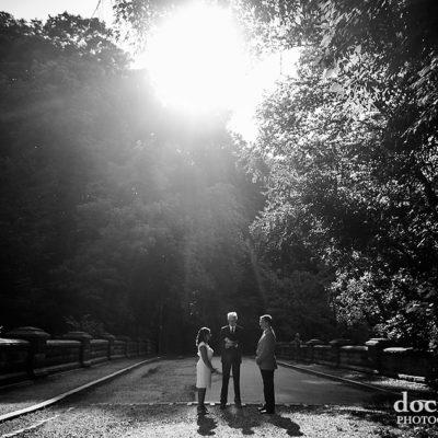 Philadelphia elopement wedding outdoors in Wissahickon Park