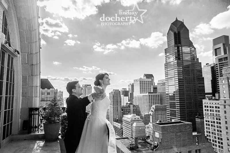 bride and groom wedding pictures at the Hyatt at the Bellevue XIX