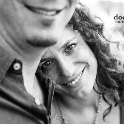 Curly bride closeup engagement picture