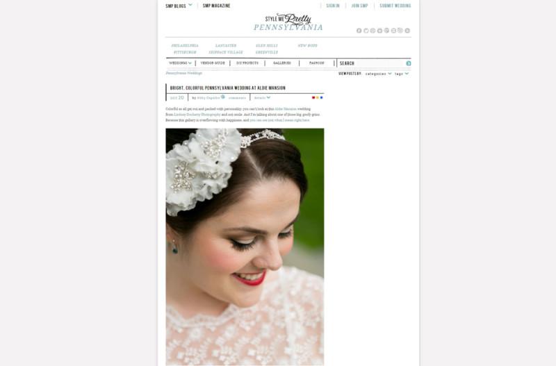 Aldie Mansion wedding on Style Me Pretty