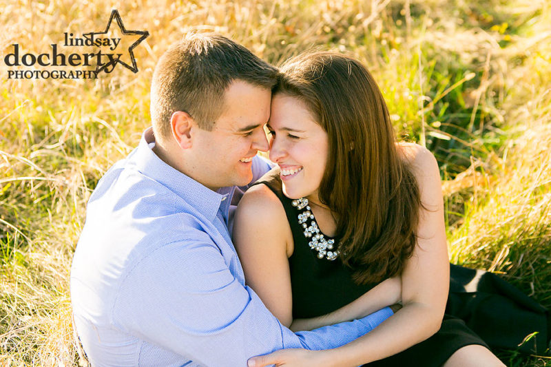 engagement session pictures at Valley Forge Park