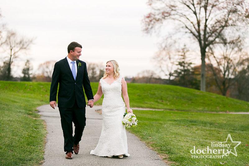 bride and groom on wedding day at Sunnybrook Golf Club
