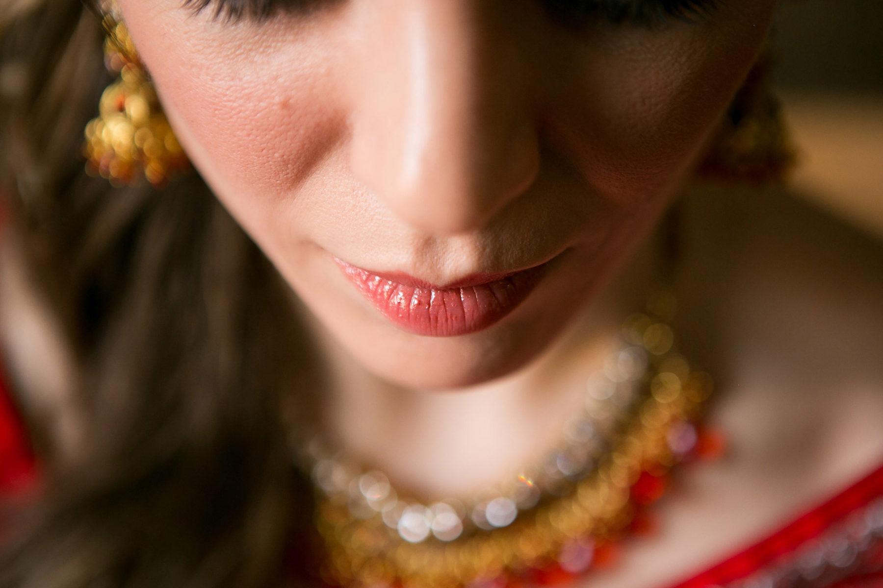 Indian bride makeup for Morris House Hotel wedding