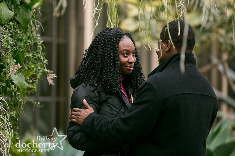 crying proposal at Longwood Gardens