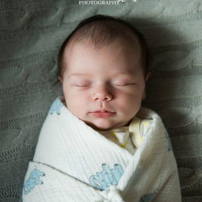 sweet sleeping week old infant
